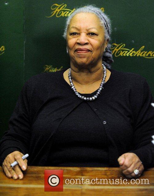 Nobel Prize for Literature winner Toni Morrison signs...