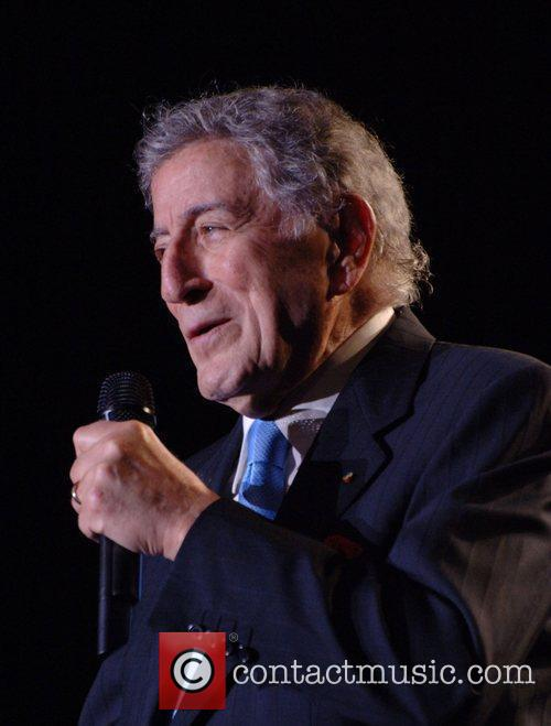 Tony Bennett performing in concert at the Chumash...