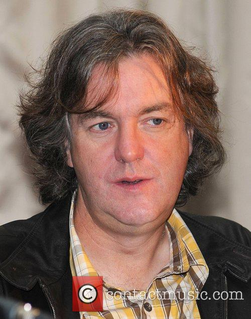 James May attends a press conference at Brown...