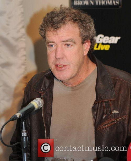 Jeremy Clarkson attends a press conference at Brown...