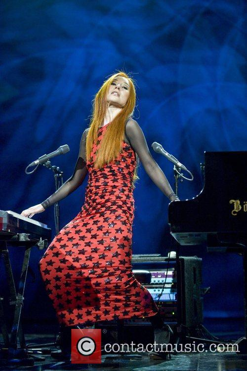 Tori Amos performing live at the Savoy Theatre