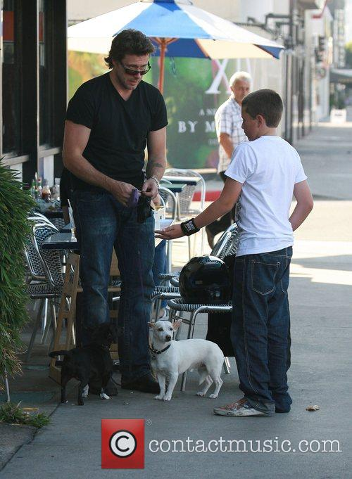 Dean McDermott and son having a day out...