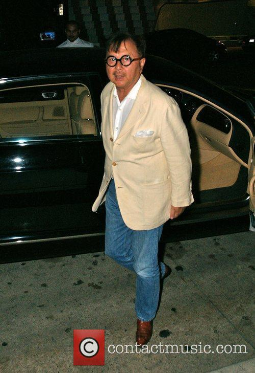 Arriving at his restaurant, Mr Chow