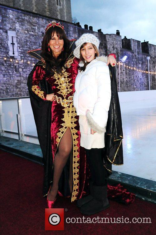Linda Lusardi, daughter Lucy Kane, Tower Of London