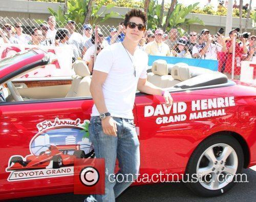 David Henrie with his Grand Marshall car The...