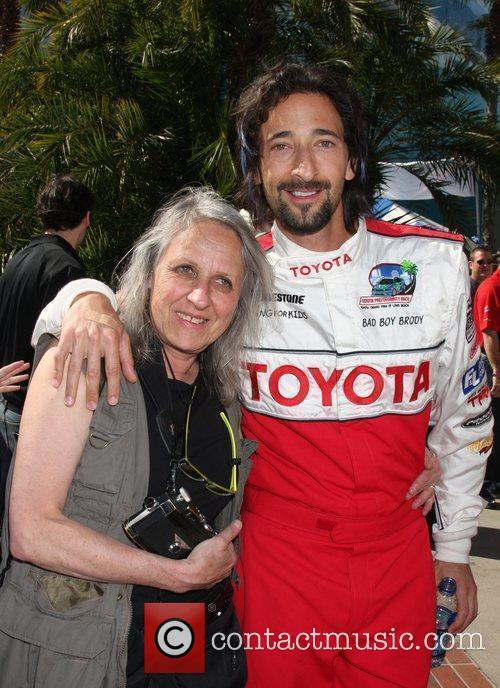 Sylvia Plachy, Adrien Brody The Toyota Pro/Celeb Race...