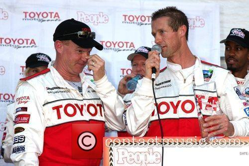 Al Unser Jr and Danny Way accepting the...