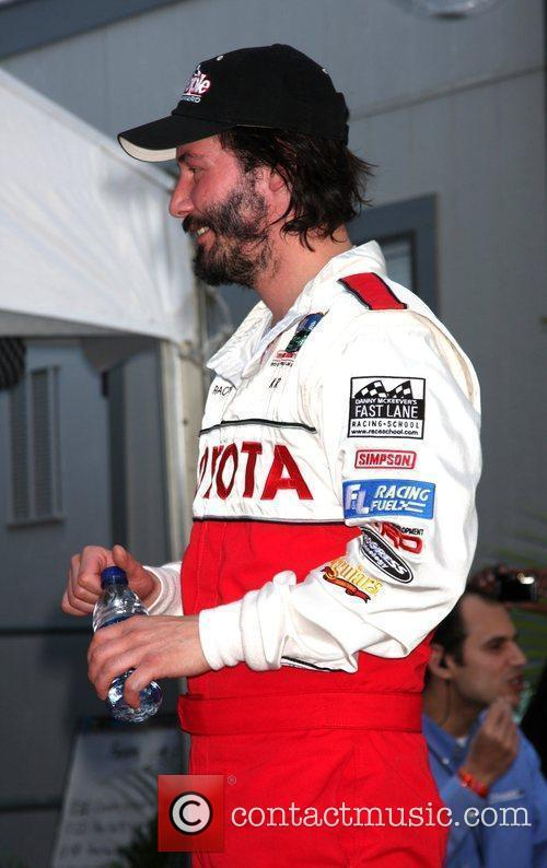Keanu Reeves Celebrity race practice session at the...