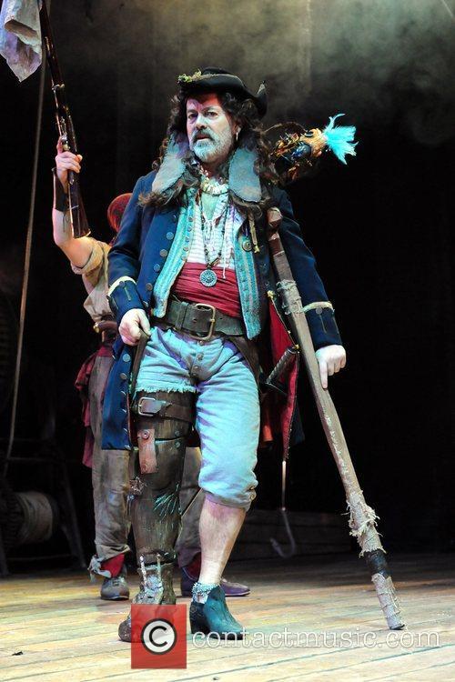 Keith Allen as Long John Silver 'Treasure Island'...