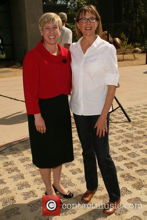 Wendy Greuel and Annette Bening  Launching of...