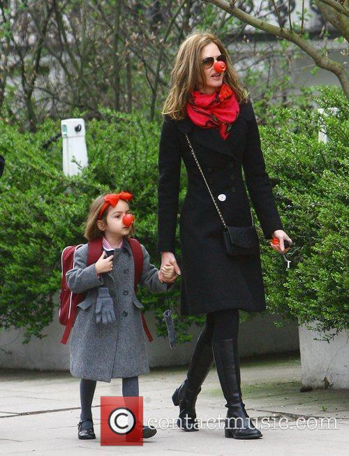Trinny Woodall taking her daughter Lyla to school...
