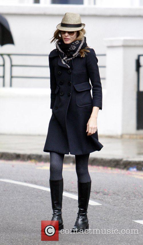 Trinny Woodall walking through Notting Hill London, England