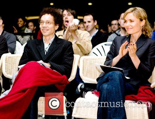 Malcolm Gladwell and Radha Mitchell judge the 2008...