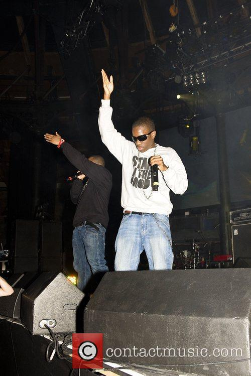 Tinchy Stryder performing live at the Roundhouse as...