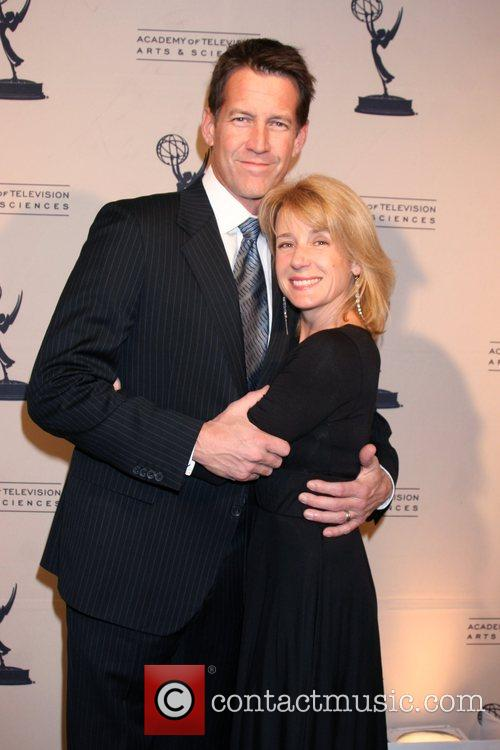 James Denton and his wife Erin O'Brien...
