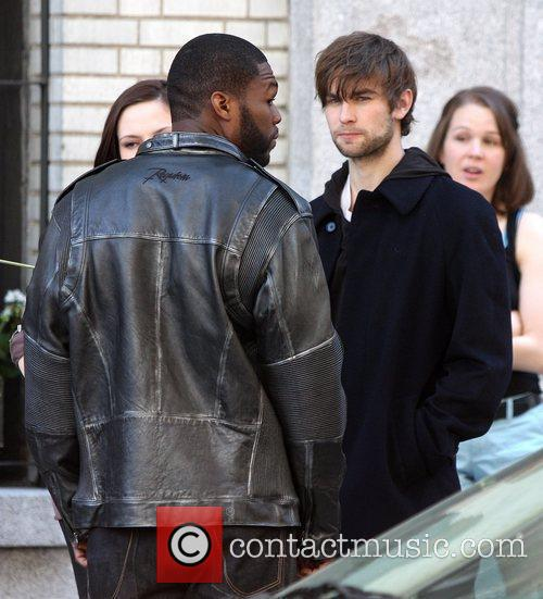 Chace Crawford and 50 Cent, aka Curtis Jackson,...