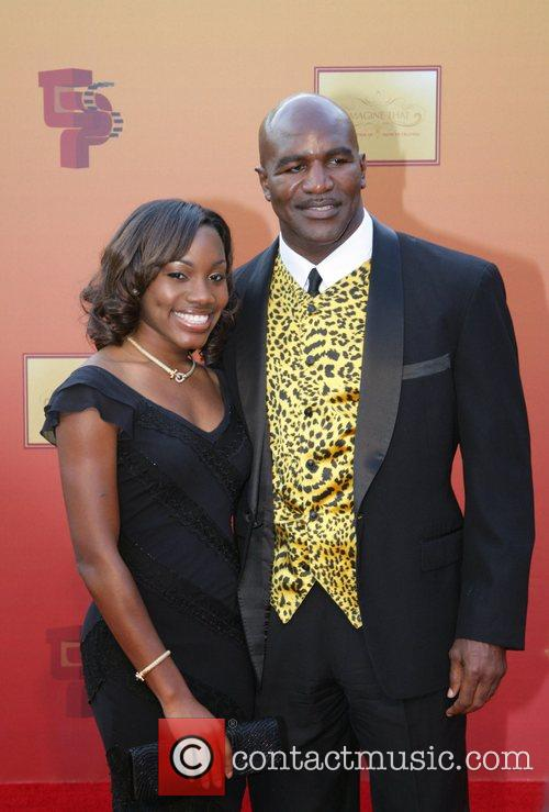 Evander Holyfield and guest Tyler Perry unveils his...