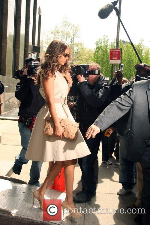 Tyra Banks departs a New York court after...