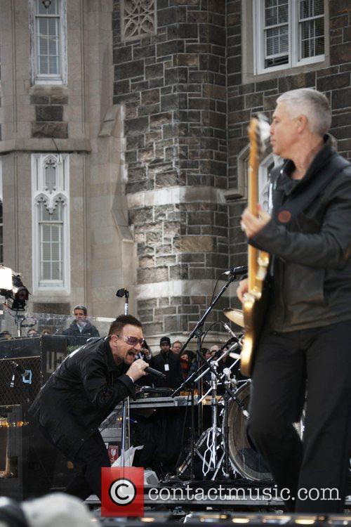 Bono performs