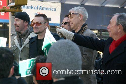 Bono, Cbs, David Letterman, The Edge and U2 5