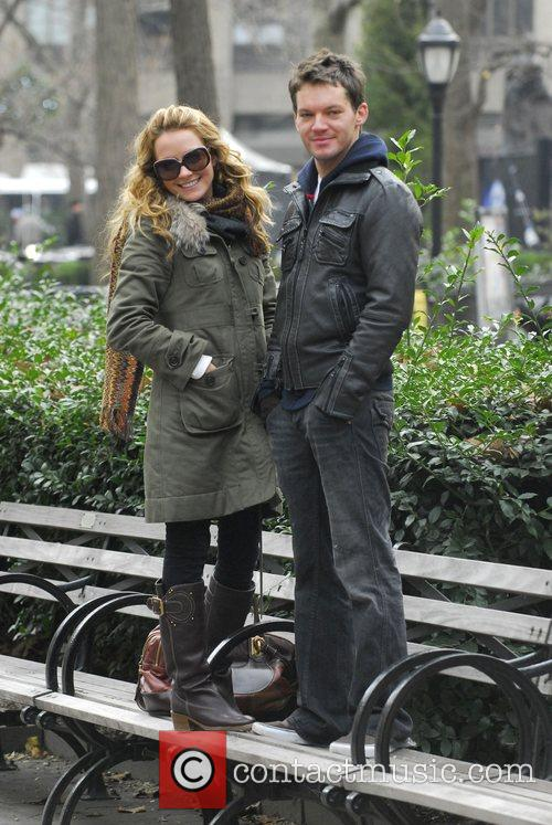 Becki Newton and her brother Matt Newton stand...