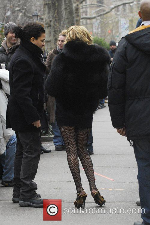 On the set of 'Ugly Betty'