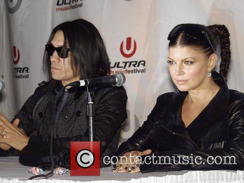 Black Eyed Peas Press Conference at Ultra Music...