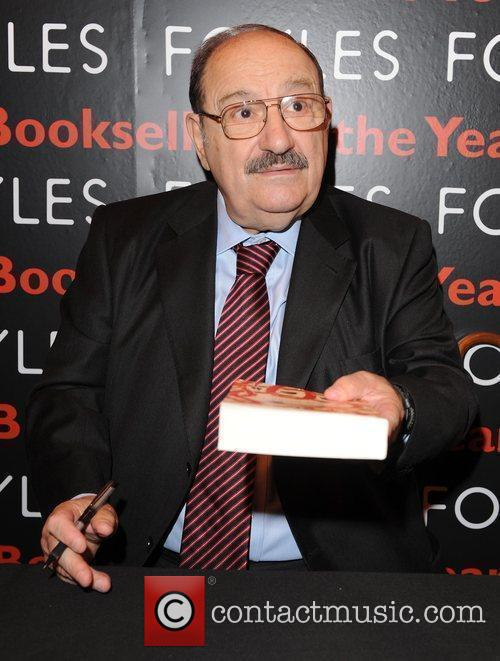 umberto eco at the 'london book fair' at earl's court exhibition centre 5281473