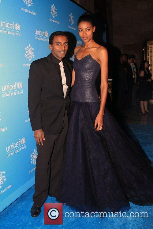 Marcus Samuelson and guest 2008 UNICEF Snowflake Ball...