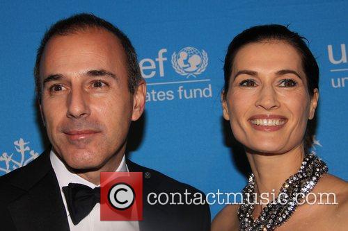 Matt Lauer and wife 2008 UNICEF Snowflake Ball...