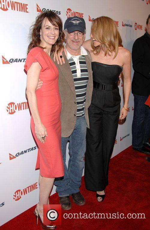 Rosemarie Dewitt and Steven Spielberg 1