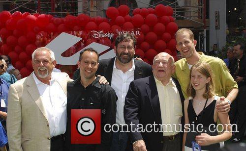Ed Asner, John Ratzenberg, Peter Docter and Elizabeth Docter