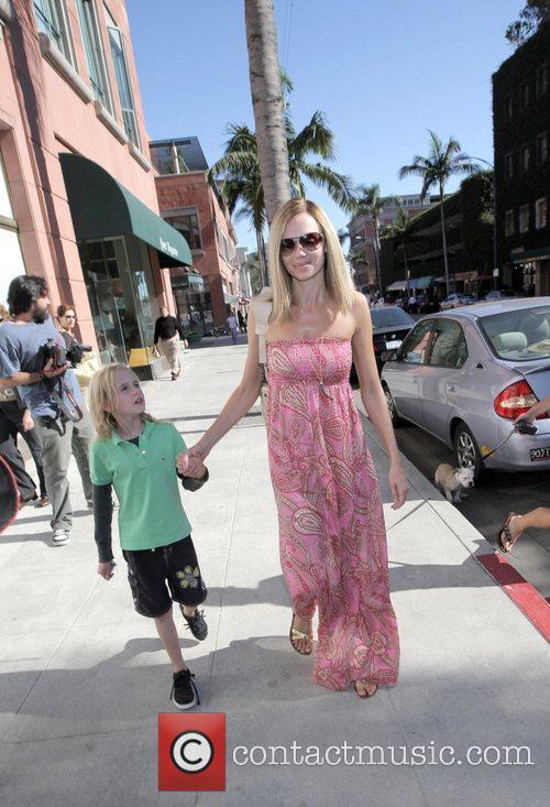 Vanessa Angel seen walking in Beverly Hills with...