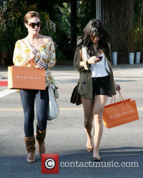 Vanessa Hudgens and a friend out shopping at...