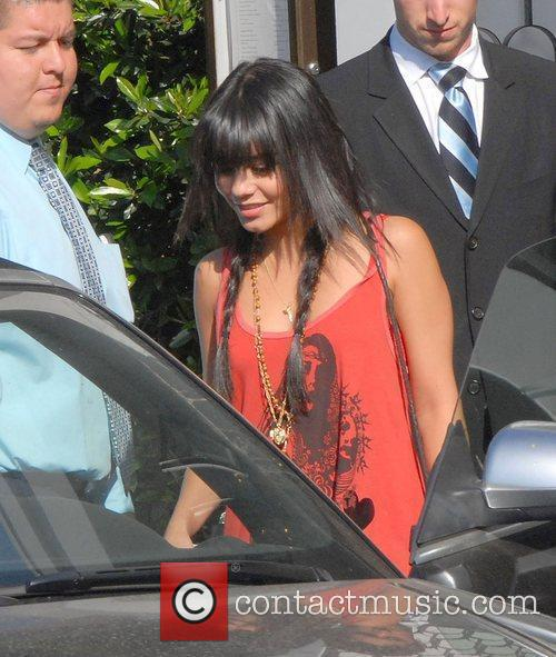 Vanessa Hudgens leaving Cecconi's restaurant on Melrose Ave...