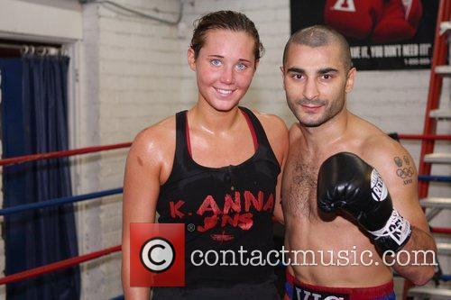 Donatella Hultin and Vic Darchinyan Featherweight champion Vic...