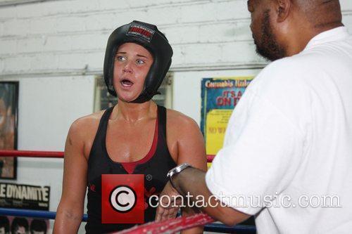 Donatella Hultin Featherweight champion Vic Darchinyan trains and...