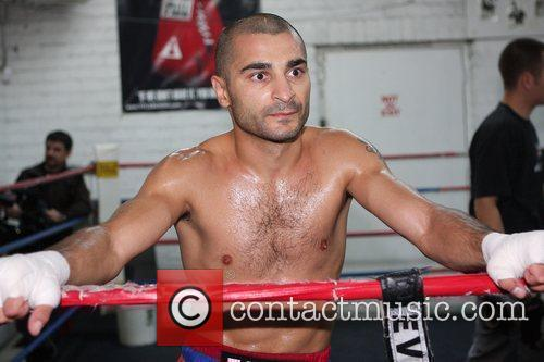 Featherweight champion Vic Darchinyan trains at Johnny Tocco's...