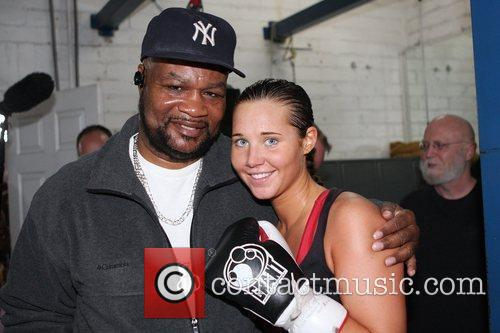 Johnny Tocco and Donatella Hultin Featherweight champion Vic...