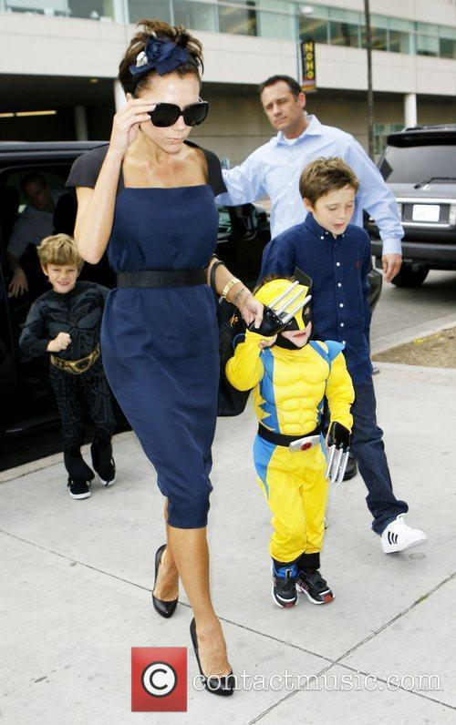 Victoria Beckham takes her son Cruz for his...