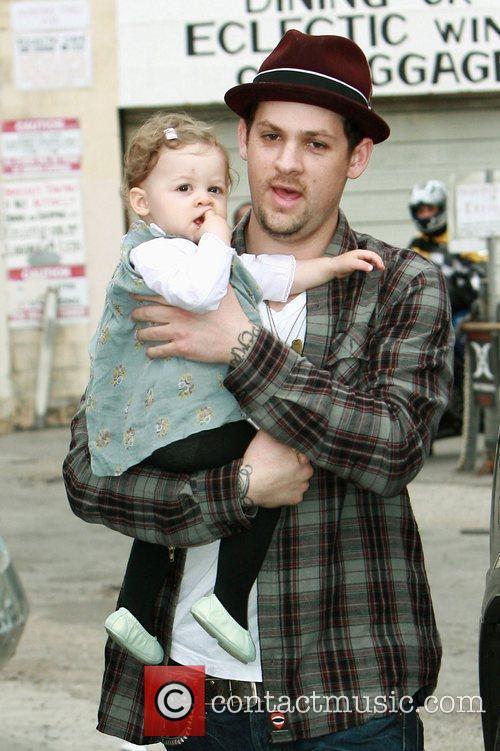 Joel Madden and daughter Harlow attends Cruz Beckham's...
