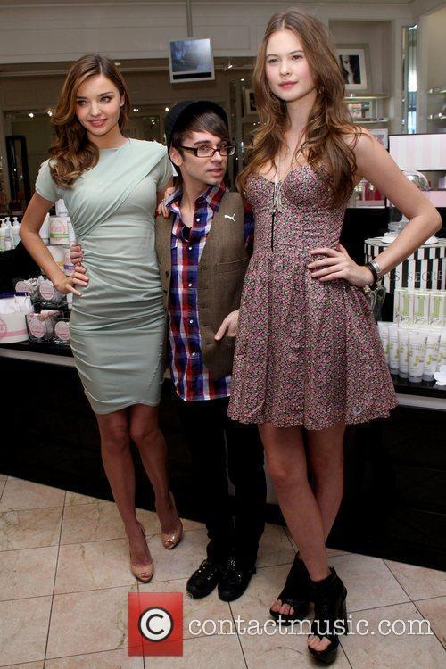 Miranda Kerr, Christian Siriano and Behati Prinsloo Victoria's...