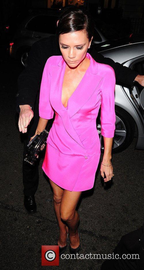 Victoria Beckham leaving Scott's restaurant