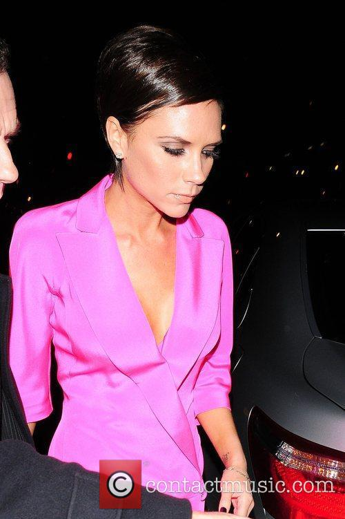 Victoria Beckham leaving Scott's restaurant London, England