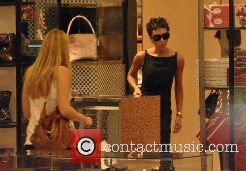Victoria Beckham  shops at Saks Fifth Avenue...