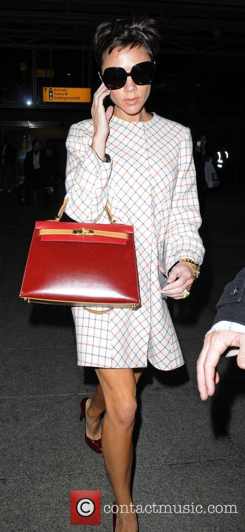 Victoria Beckham arriving at Heathrow airport London, England
