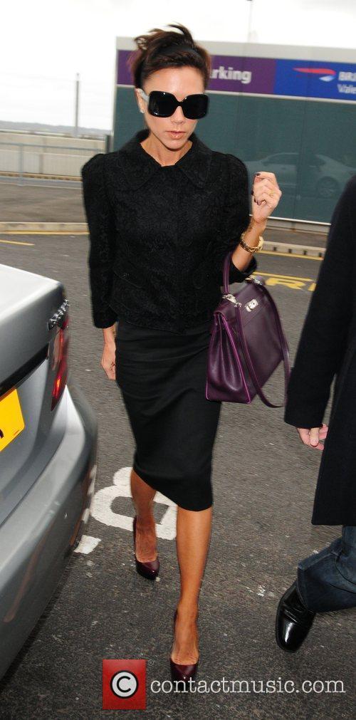 Victoria Beckham at Heathrow Airport London, England