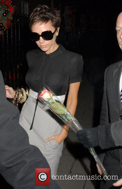 Victoria Beckham arrives at her hotel in London...