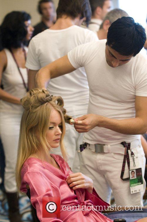 Lindsay Ellingson Victoria Secret Fashion Show Backstage Hair...