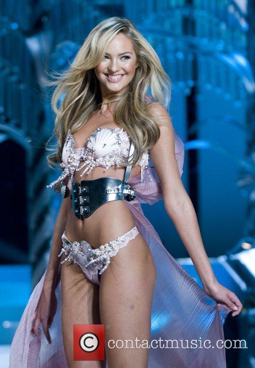Victoria's Secret model walks the runaway at the...